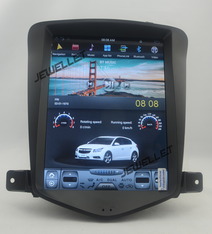 9.7 tesla style vertical screen android 6.0 Car GPS radio Navigation for Chevrolet Cruze,Daewoo Lacetti, Holden 2008-2016