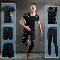 2017 Running Sets Men Sports Suit Breathable Basketball Sport Compression Underwear Quick Dry Fit Gym Training