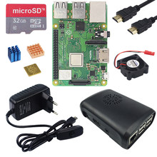 Original Raspberry Pi 3 Model B Plus On-board WiFi&Bluetooth + ABS Case + 3A Power Supply + Heat Sink for Raspberry Pi 3B Plus(China)
