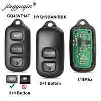 Remote Car Key fob 2/3 +1 Button for Toyota HYQ12BBX Highlander GQ43VT14T Camry Solara Corolla Sienna 2002 -2007 315mhz