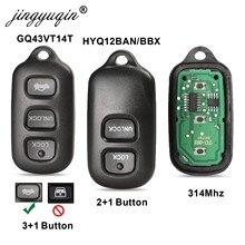 Mando a distancia de coche 2/3 + 1 botón para Toyota HYQ12BBX Highlander GQ43VT14T Camry Solara Corolla Sienna 2002 -2007, 315mhz