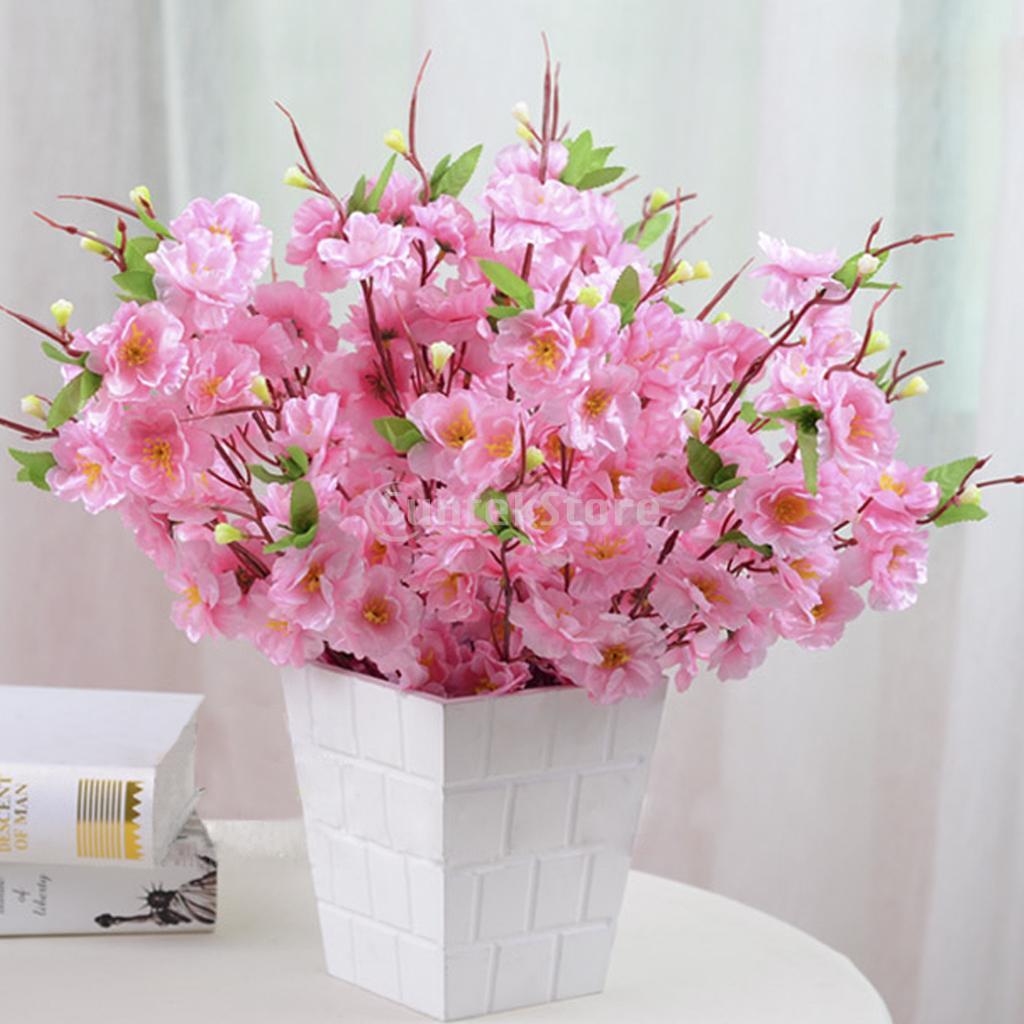 New 2015 Brand New 2 Pcs 1614 Artificial Spring Peach Blossom