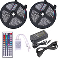 10M 5050 RGB Non Waterproof IP65 LED Strip Tape Kit 12V 30LED/M With 44 key IR Remote controller 110V 240V US EU Power Adapter