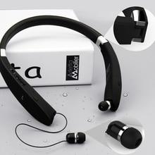 SX-991 Sports Bluetooth Headphones Retractable Foldable Neckband Wireless Headset Anti-lost In Ear Earphones suicen sx 998 3 in 1 bluetooth v4 0 neckband headphones w microphone fm tf