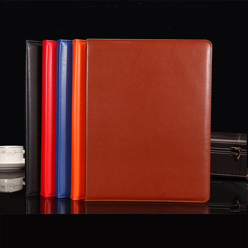 Popular Artificial Leather File Folder Folders For Documents Reports Conference Signature With Metal Clip Office Supplies 1211B