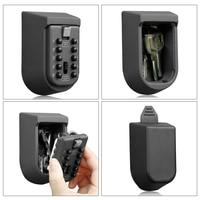 Padlock Door Lock Wall Mount Key Storage Box Organizer Security Locks Zinc Alloy Outdoor Safe with 10 Digit Combination Password