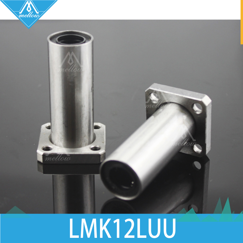 HOT 3D printer CNC parts LMK12LUU LMK12L long type flange bearing linear bush LMK12L LMK12LUU for