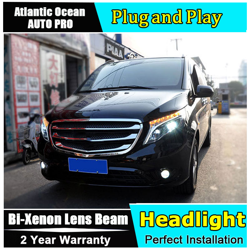 LED Head Lamp for Benz vito headlight 2016 2018 for Metris head light drl H7 hid