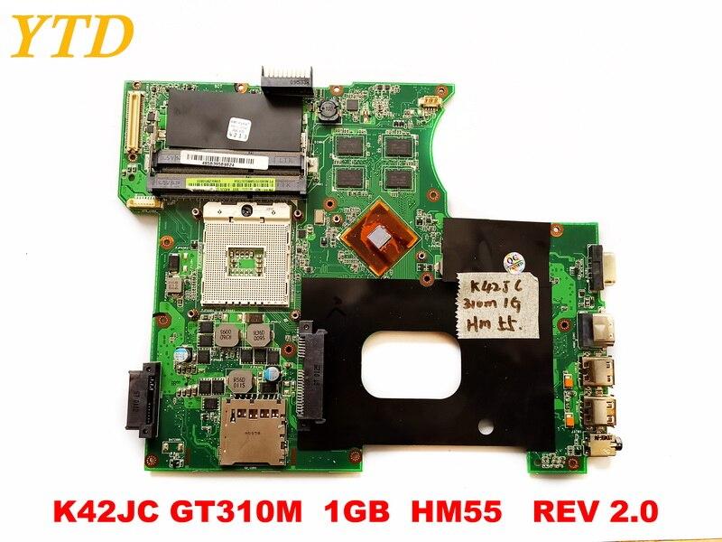 Original for ASUS K42JC laptop motherboard  K42JC GT310M  1GB  HM55   REV 2.0  tested good free shippingOriginal for ASUS K42JC laptop motherboard  K42JC GT310M  1GB  HM55   REV 2.0  tested good free shipping