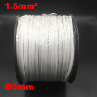 1roll 1.5mm2 PVC 3mm ID White Handwriting Ferrule Printing Machine Number Plum Tube Wire Sleeve Blank Cable Marker