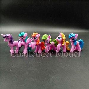 Image 4 - 6 Pcs/set 3 5cm Cute PVC Unicorn Pony Princess Action Figures Toy Doll Earth Ponies Pegasus Alicorn Bat Figure Dolls For Girl