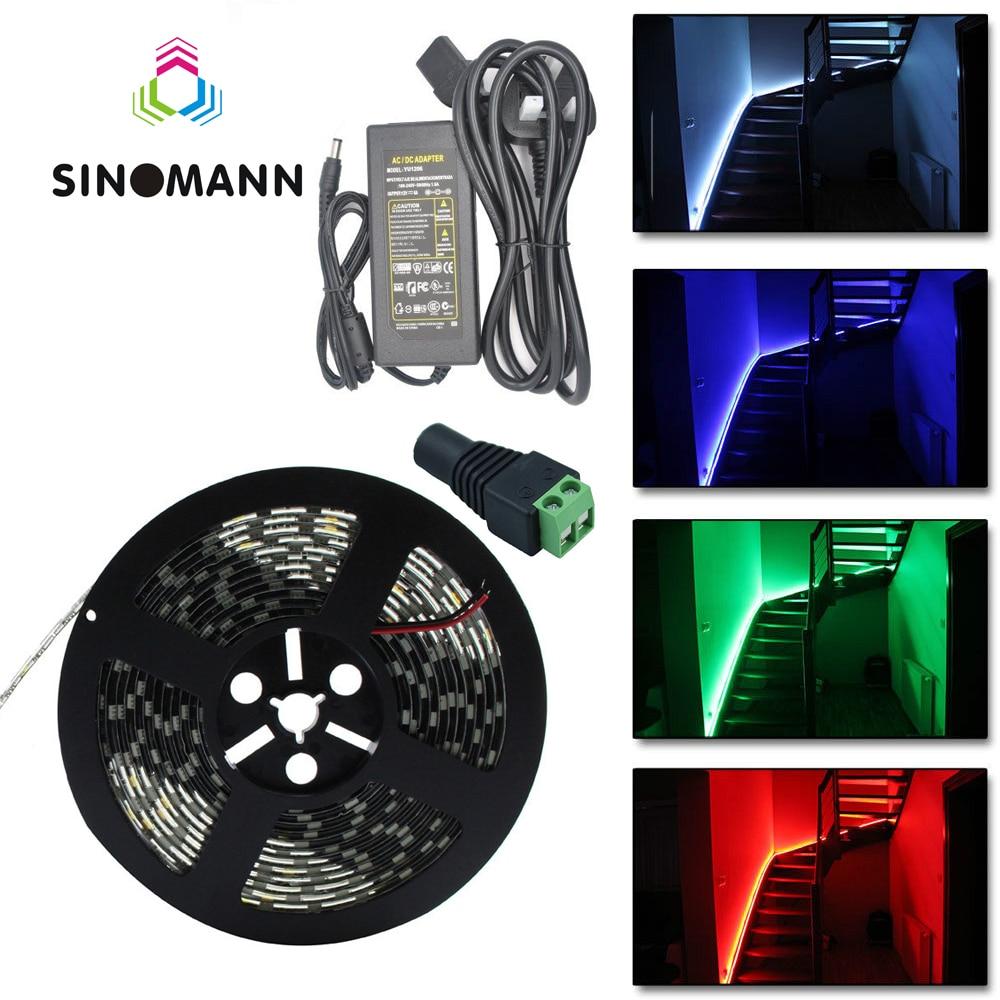 LED-csík 5050 SMD fekete PCB 5M DC12V Rugalmas fény 60Led / m, 5m / - LED Világítás