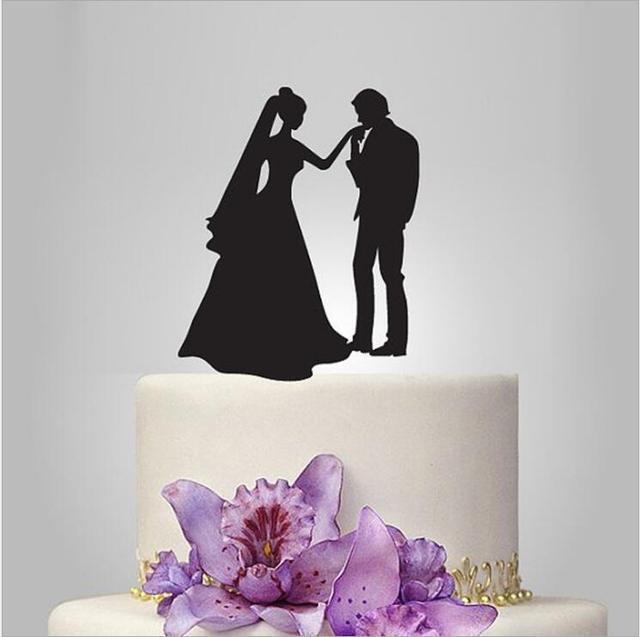 Aliexpress.com : Buy Happiness Groom Kiss Bridal Silhouette Wedding ...