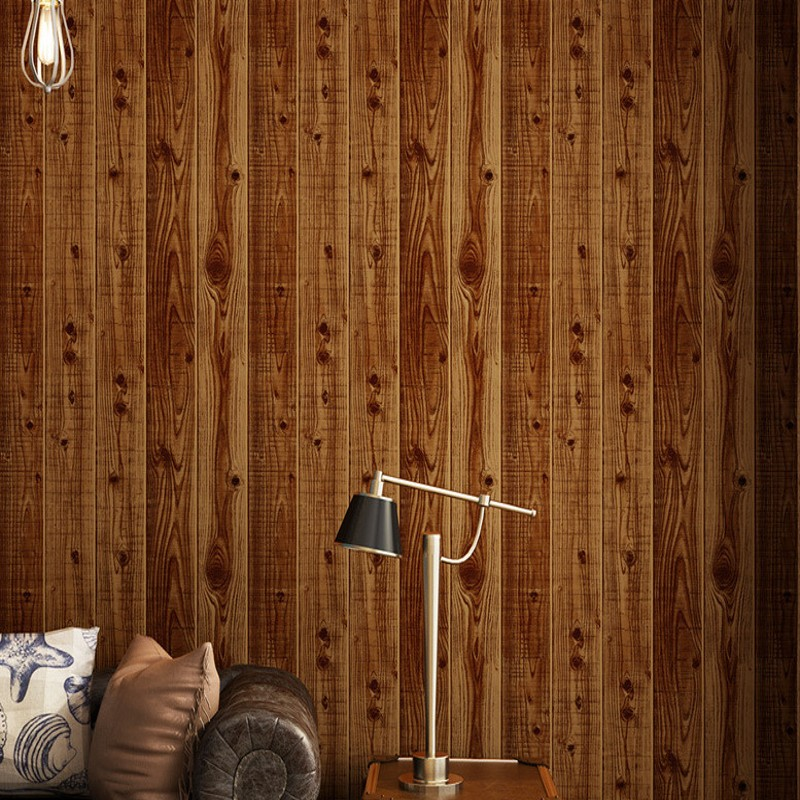 Free Shipping Wooden wallpaper imitation wood board ceiling Chinese living room clothing store 3D stereo wood wallpaper|wood wallpaper|clothing store|imitation wood - title=