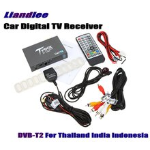 Liandlee Thailand, Indonesia, India DVB-T2 Car Digital TV Receiver Host Mobile HD TV Turner Box Antenna High Speed / DVB-T2-T337 liandlee for russia dvb t2 car digital tv receiver host mobile hd tv turner box antenna rca hdmi high speed model dvb t2 t337