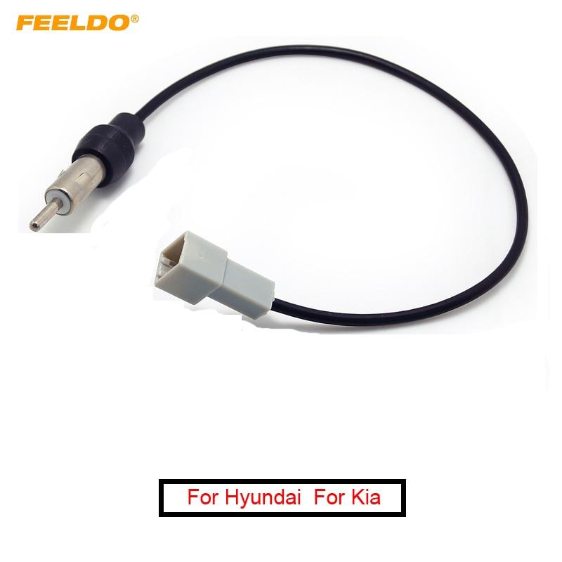 FEELDO 1Pc Car Radio Wire Cable For Hyundai 2009-2011/Kia KI-11 Female Connector Antenna Adapter #AM1548