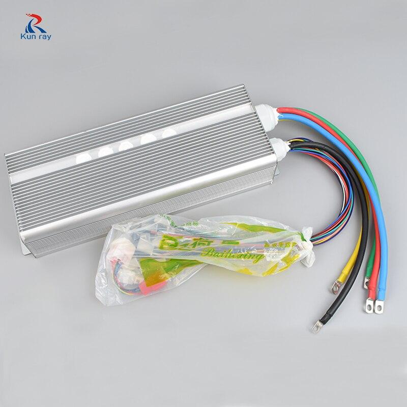 Бесщеточный контроллер 42 V-72 V 3000 W 50A 24 Mosfet 120 градусов фазы Электрический мотор для велосипеда регулятор скорости e велосипед контроллер скут...