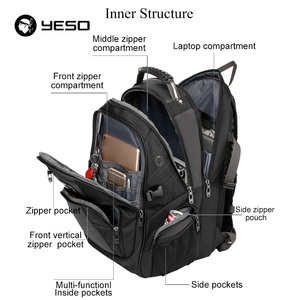 Image 5 - YESO Large Capacity Laptop Backpack Men Multifunction Waterproof 15.6inch Backpack For Teenagers Business Casual Travel Backpack