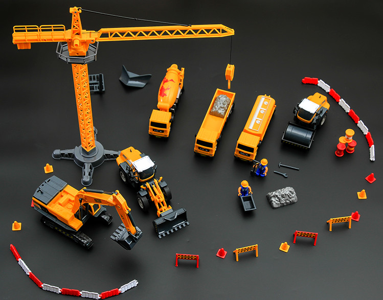 Fun Model Building Kits with Engineering car toys for children boys gift indoor simulation model game