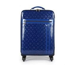 Großhandel! 16 18 20 22 24 Zoll Frauen schöne Rot/Blau PU Leder Hochzeit Gepäck Sets auf universal Räder, Trolley luggageFGF-0003