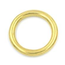 5pcs 16mm Solid Brass O Rings of leather Accessory Cast High Quality Carft Strap Round DIY