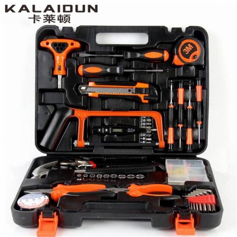 KALAIDUN 82pcs tool combination Multi - functional  maintenance tools wrench hardware  hand tools set box suite