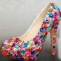 Zapatos Zapatos de Baile de Graduación Vestido Formal de Primavera discoteca Zapatos de La Boda de Diamante de Novia Gorgeous 5 Pulgadas de Tacón Alto