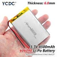 1/2/4 pcs/lot rechargeable Premium 606090 3.7 V volts 4500 mAh lipo piles au lithium polymère avec protection PCB module de charge