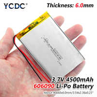 1/2/4 pcs/lot rechargeable Premium 606090 3.7V volt 4500mAh lipo polymer lithium batteries with protective PCB charging module