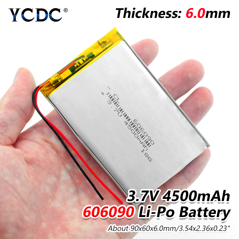 1/2/4 pièces/lot rechargeable Premium 606090 3.7V volts 4500mAh lipo polymère batteries au lithium avec module de charge de carte PCB de protection