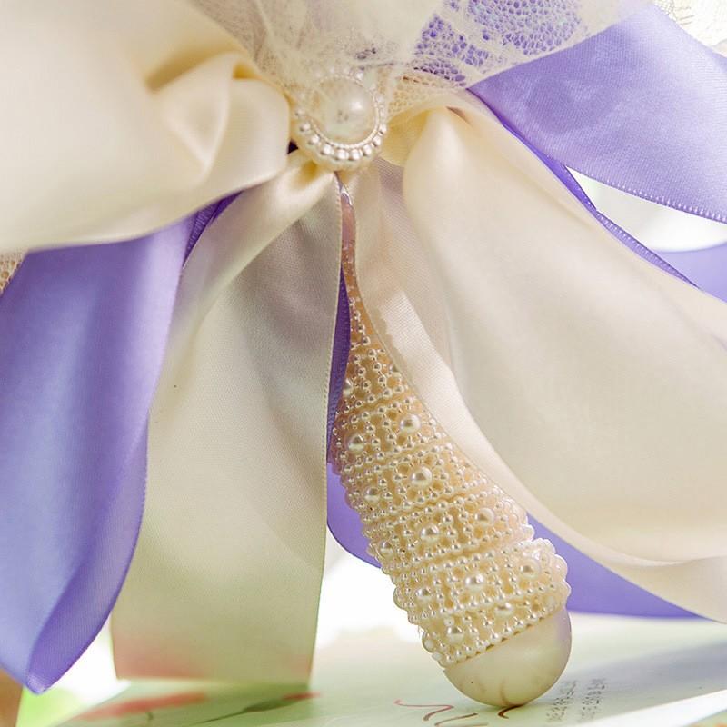 2017 Artificial Rose Wedding Bouquet Bridal Bouquet Bridesmaid bouquet de mariage buques de noivas bruids boeket ramo boda (1)