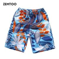 Brand Clothing Summer Men Board Shorts Quick Dry Beach Board Shorts Male Floral Hawaiian Shorts Cotton