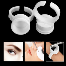100pcs Professional Microblading Accesories Pigment Glue Rings Plastic Tattoo Ink Holder Supplies Semi Permanent Eyebrow