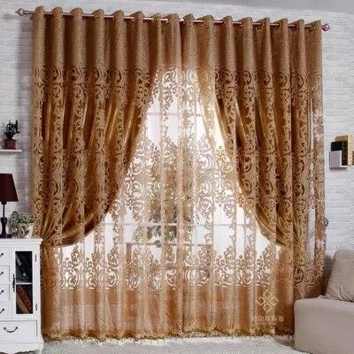 Textil para el hogar doble Pink Floral cortinas opacas decoración de su casa per