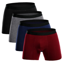 European size Boxers Long Men Underwear Cotton Big Homme Men's Underpants Brand Boxer Breathable Hombre Ropa interior U864(China)