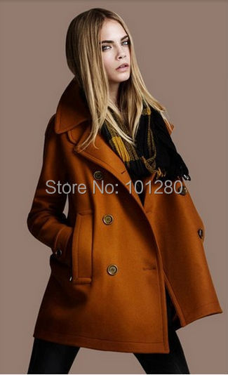 High Quality Winter Coat Woman Casual Wool Jacket Casacos Femininos Double Breasted Overcoat Plus Size Wool Trench T151