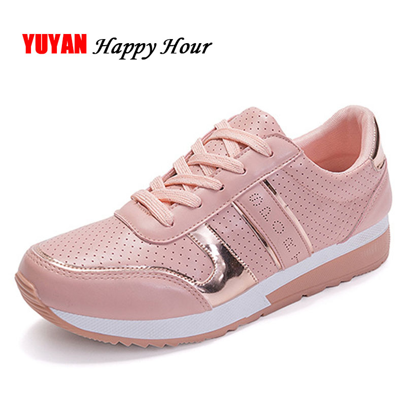 New 2020 Fashion Sneakers for Women Brand Shoes Soft Comfortable Women's Sneakers Sweet Ladies Shoes Pink Black White ZH2764