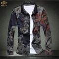 Super Large Size Floral Camisa Masculina 7XL 6XL Brand Clothing Slim Fit Men Flower Shirt Long Sleeve Hawaiian Shirt 2017 New