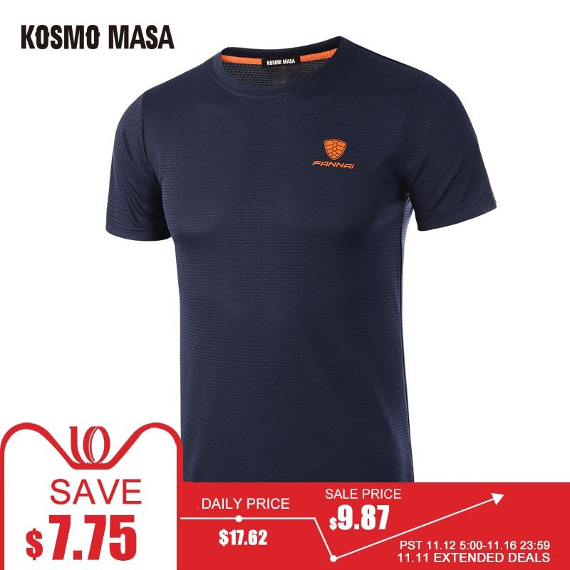 KOSMO MASA 2017 Primavera Verano hombres de Manga Corta Camiseta Rápida seco Transpirable Gimnasio Hip Hop Camisetas de Los Hombres del Jersey de la Camiseta MC0278