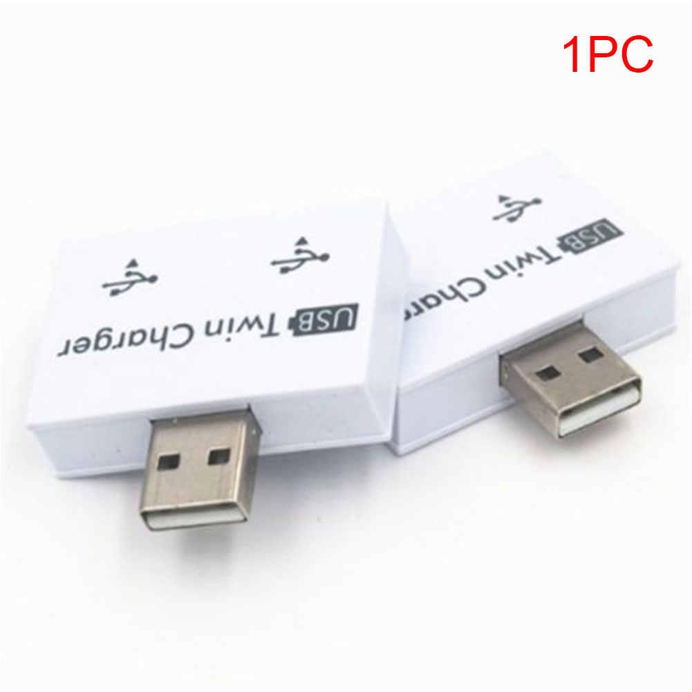 2 portas USB Hub Extensor Divisor de Prática Profissional de Moda Para O Telefone Tablet Adaptador ABS Estável Carregador Portátil Duplo Mini