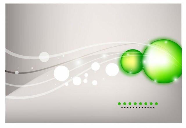 Fond Vert Carte De Visite En Plastique Translucide Modele Y0007
