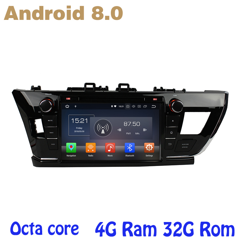 Octa core PX5 Android 8.0 car dvd gps for toyota Corolla 2014 2015 Middle-East version with 4G RAM wifi 4g usb auto Multimedia