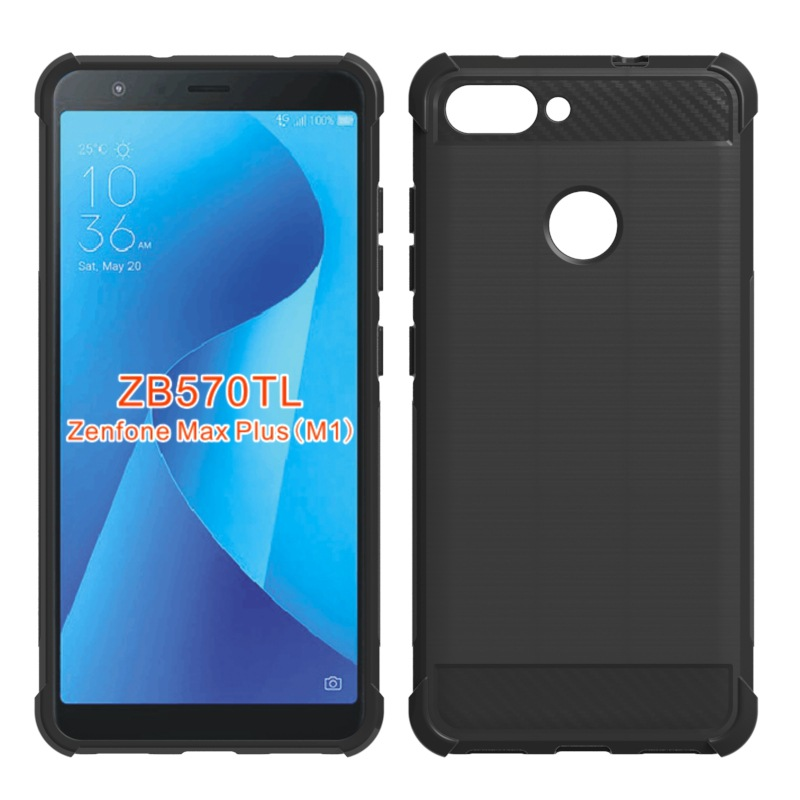 ZB570TL Cases Carbon fiber Soft For Asus Zenfone Max Plus M1 Case ZB570TL Phone Case For Zenfone Max Plus(M1) X018DC ZB570TL
