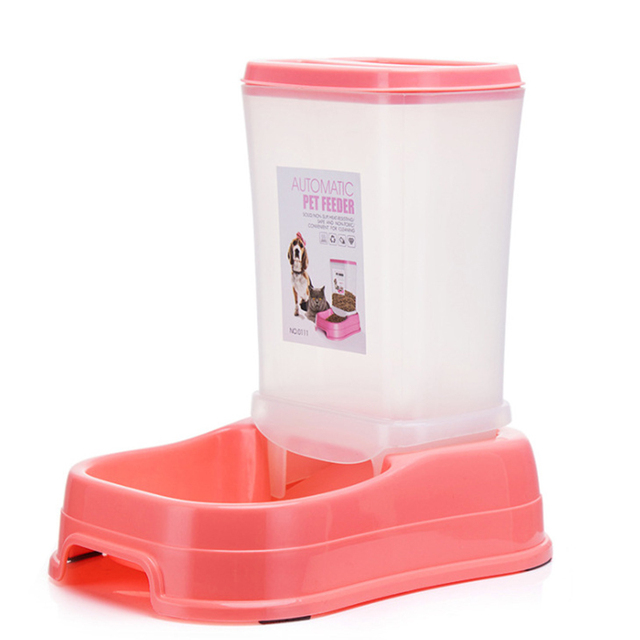 Petshy Pet Automatic Feeder Dog Cat Food Bowl Removable Plastic Kitten Puppy Feeding Dish Dispensers For Small Medium Cats Dogs 5