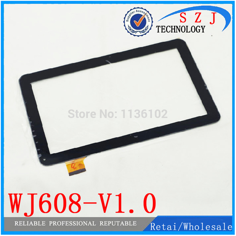 New 10.1'' inch Capacitive Touch Screen WJ608-V1.0 Tablet PC Panel Digitizer Glass Replacement Free shipping 10pcs/lot new for 10 1 inch qumo sirius 1001 tablet capacitive touch screen panel digitizer glass sensor replacement free shipping