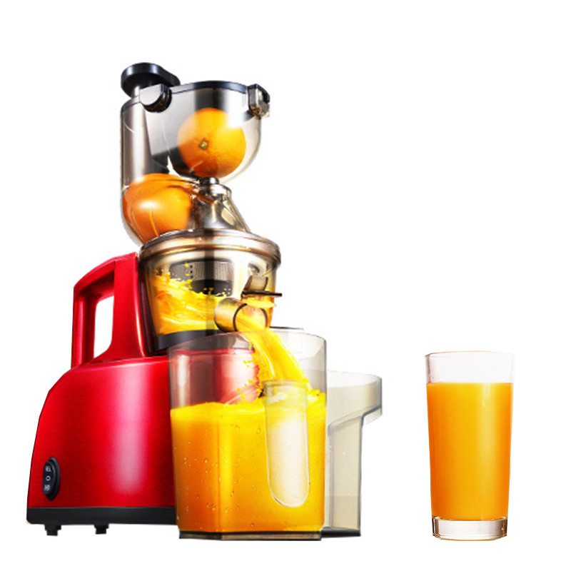 BEIJAMEI Wholesale low speed orange slow juicer machine electric firut extractor fruit vegetable juicer with big diameter 220v jyz e19 household orange slow juicer fruit vegetable low speed juicer electric stainless steel orange juicer