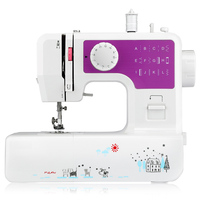 3 Colors Household Mini Sewing Machine with 12 Different Stitches EU/US Plug Adjustable Speed USB Socket Sewing Machine for Home