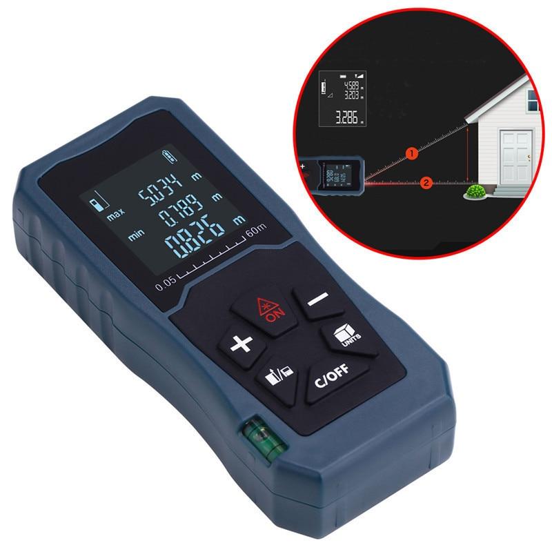 Handheld Laser Distance Meter 40M 60M 80M 100M Mini Laser Rangefinder Laser Tape Range Finder Diastimeter Measure цена