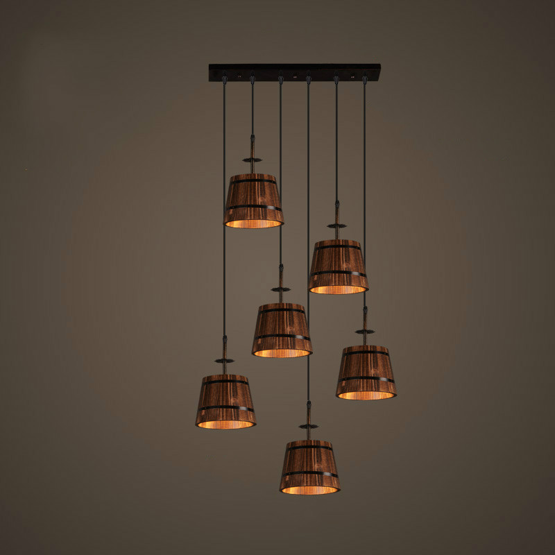 Scandinavian creative cafe art Pendant light American industrial style restaurant bar table barrel Pendant lamp AP8091103