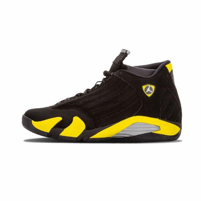 12e3caab96c7fd Jordan 14 Men Basketball Shoes Black Grey Black Toe Indiglo Last Shot  Thunder Wolf Grey Athletic Outdoor Sport Sneakers